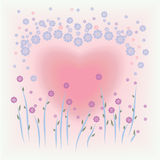 Flower and heart shape background Royalty Free Stock Photos