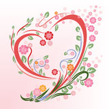 Flower in heart shape Stock Image