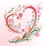 Flower in heart shape stock image
