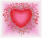 Flower in heart shape royalty free stock image