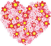Flower heart vector Royalty Free Stock Images