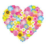 Flower heart. Vector image of flower heart Royalty Free Stock Photography