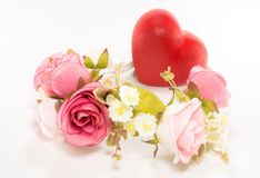 Flower and heart Royalty Free Stock Photo