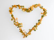 Flower heart wreath Royalty Free Stock Images
