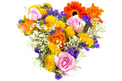 Flower heart yellow orange 1 Royalty Free Stock Photos