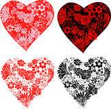 Flower Hearts Royalty Free Stock Photo