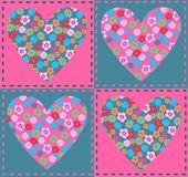 Flower hearts royalty free stock images
