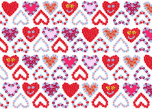 Flower hearts background design Stock Photos