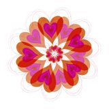 Flower hearts bloom. Illustrated 2d graphic / art / background / pattern for all usage Royalty Free Stock Photography