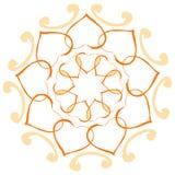 Flower of hearts folded Stock Image