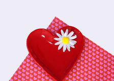 Flower and hearts Stock Images