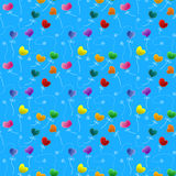 Flower hearts seamless butterflies pattern Stock Photography