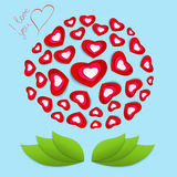 Flower from hearts by St. Valentines Day Stock Images