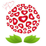 Flower from hearts by St. Valentines Day Royalty Free Stock Photography