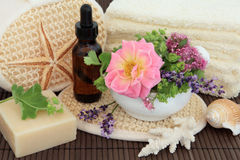 Flower and Herb Spa Royalty Free Stock Photo