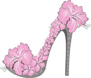 Flower high heel. Vector illustration  Royalty Free Stock Photo