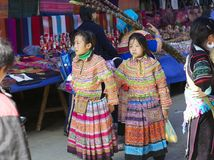 Flower Hmong Minority People Vietnam Royalty Free Stock Images