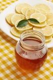 Flower honey with lemon Stock Photos