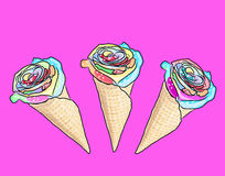 Flower ice cream Royalty Free Stock Photography