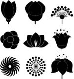 Flower icon collection,vector Royalty Free Stock Photos