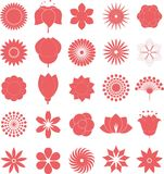 Flower icon collection,vector Royalty Free Stock Image