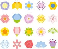 Flower icon collection,vector Royalty Free Stock Images