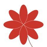 Flower icon. Flat design red eight petal flower icon  illustration Stock Photos