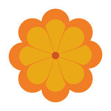 Flower icon. Flat design yellow flower icon  illustration Royalty Free Stock Images