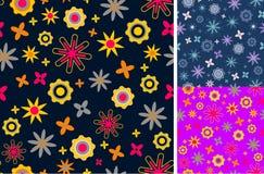Flower icon pattern Stock Photo
