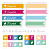 Flower icon ribbon vector design. Flower icon ribbon vector design template Stock Illustration