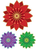 Flower icon set. Stock Vector Illustration Royalty Free Stock Photography