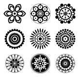 Flower icon set Stock Photography