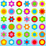 Flower icon set - background Stock Images