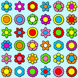 Flower icon set - background. Flower icon set - seamless background vector illustration