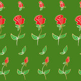 Flower icon. Set of decorative rose silhouettes. Seamless pattern of decorative roses, hand-drawn, for textiles, postcards, book of flyers, backgrounds. Vector Royalty Free Stock Image