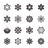 Flower icon. Set of floral icons. Flower icon. Set of floral icons in the style of a flat design Royalty Free Stock Images
