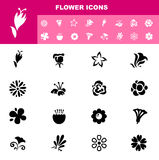 Flower icon set  Royalty Free Stock Photography