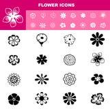 Flower icon set  Royalty Free Stock Photo