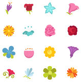 Flower icon set  Royalty Free Stock Images