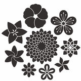 Flower. Icon Set Stock Photos