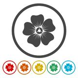 Flower icon set. Vector icon vector illustration