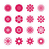 Flower icon set, vector eps10 Royalty Free Stock Images