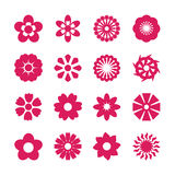 Flower icon set, vector eps10 Royalty Free Stock Photos