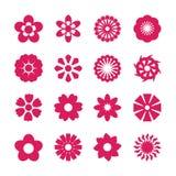 Flower icon set, vector eps10.  Royalty Free Stock Photos