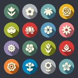Flower icon set .  Vector Illustration Stock Photography