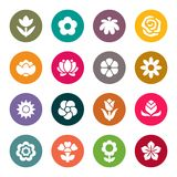 Flower icon set.  Vector Illustration Stock Image