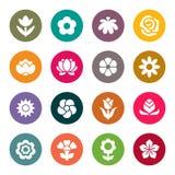 Flower icon set.  Vector Illustration.  Stock Image