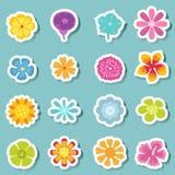 Flower icon set vector Stock Image