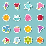 Flower icon set vector Royalty Free Stock Photography