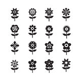 Flower Icon Set for website Royalty Free Stock Photos